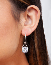 Silver Cubic Zirconia Teardrop Earring - link has visual effect only