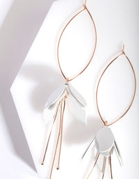Rose Gold Coated Flower Drop Earring - link has visual effect only