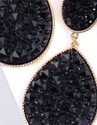 Black Embellished Teardrop Earring - link has visual effect only