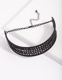 Black Dazzle Multi Diamante Choker - link has visual effect only