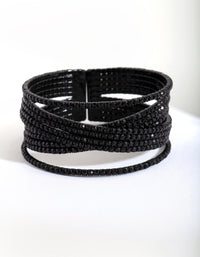 Black Overlap Cupchain Cuff - link has visual effect only