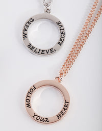 Mixed Metal Affirmation Necklace 2 Pack - link has visual effect only