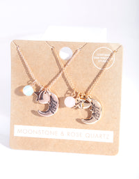 Mixed Metal Love You to the Moon Necklace Pack - link has visual effect only