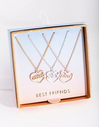Mixed Metal Best Friends 3 Pack Necklace Set - link has visual effect only