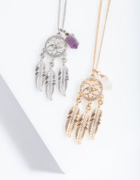 Mixed Metal Dream Catcher Necklace Pack - link has visual effect only