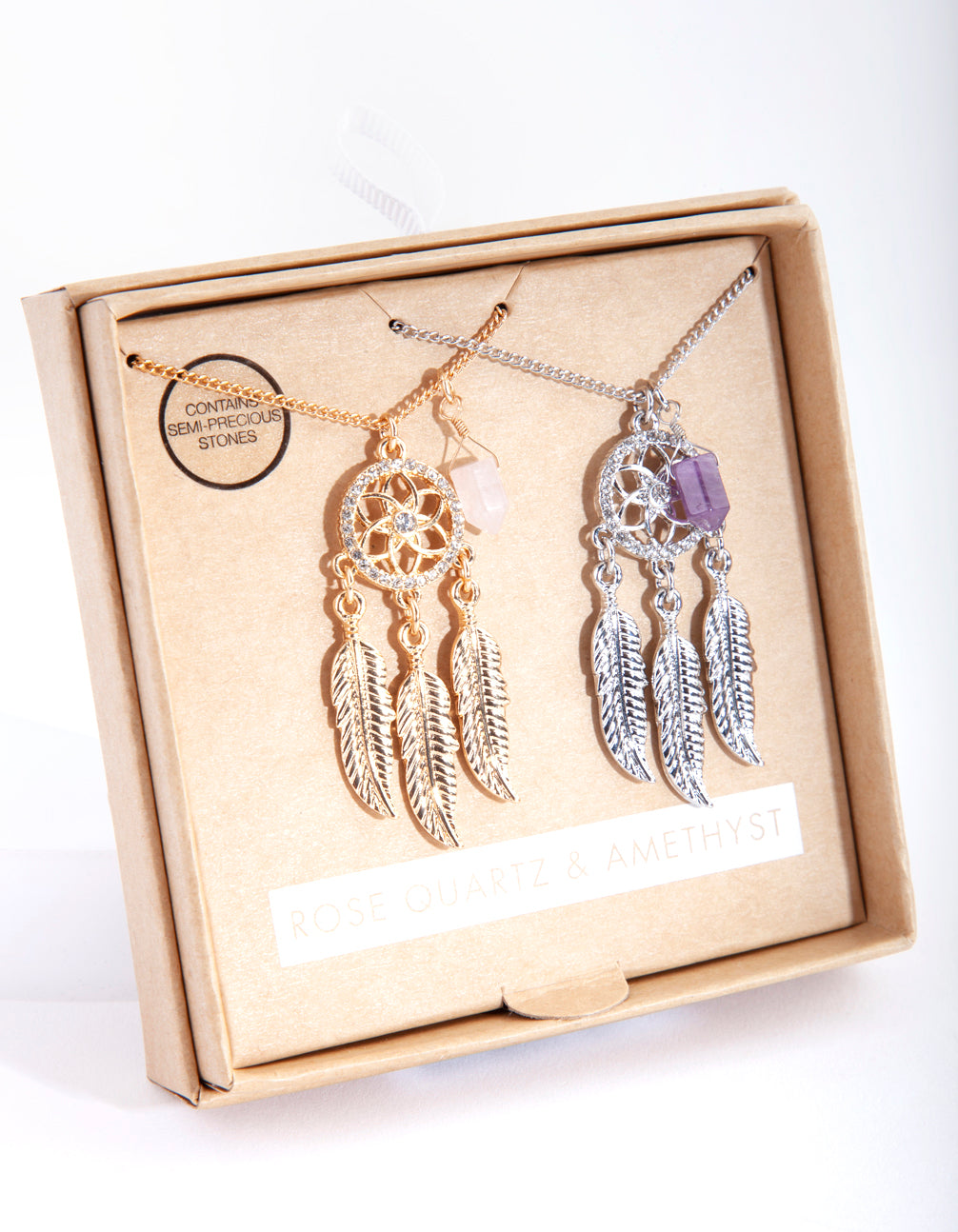 Mixed Metal Dream Catcher Necklace Pack