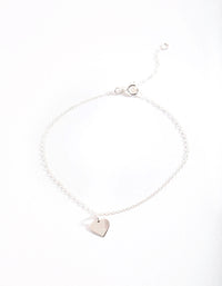 Sterling Silver Heart Charm Bracelet - link has visual effect only