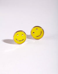 Kids Yellow Smile Stud Earring - link has visual effect only
