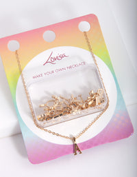 Kids Gold Make Your Own Letter Necklace - link has visual effect only