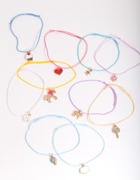 Kids Multi Coloured Charm Bracelet Pack - link has visual effect only