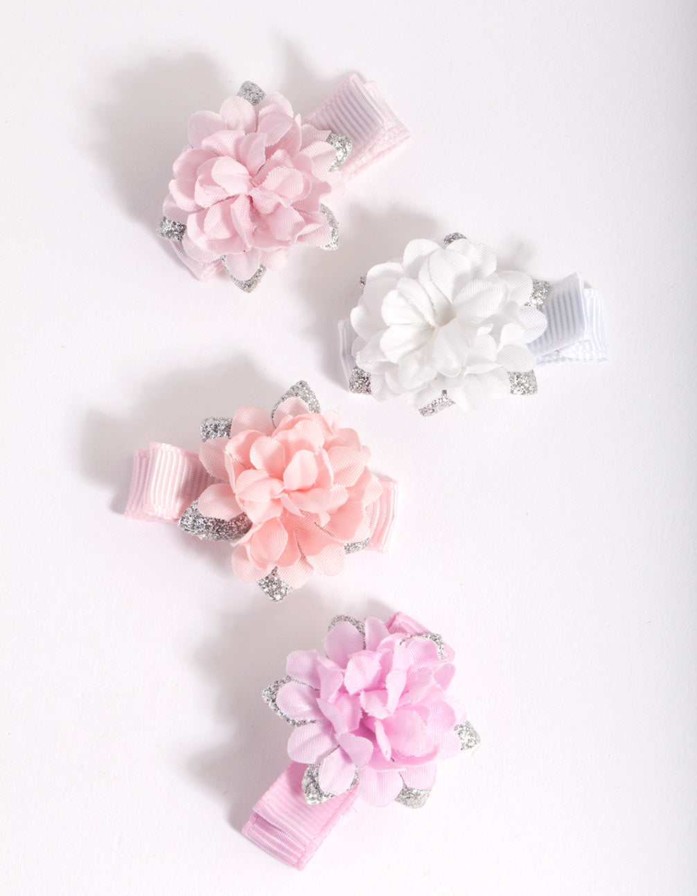Kids Multi Coloured Flower Hair Clips