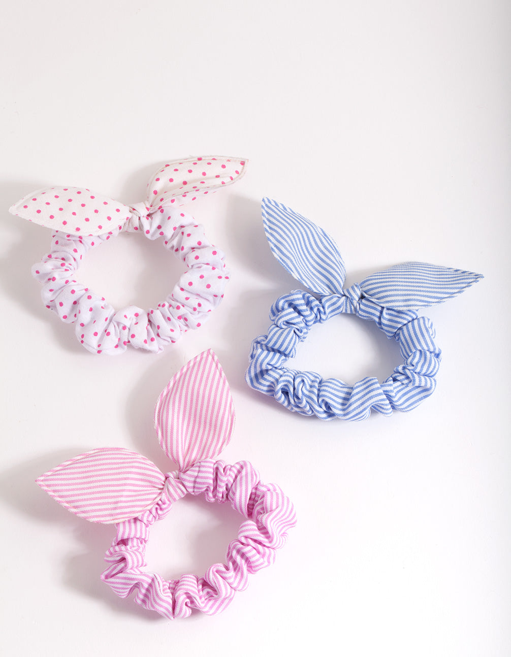 Kids Multi Pattern Scrunchie Bow 3 Pack