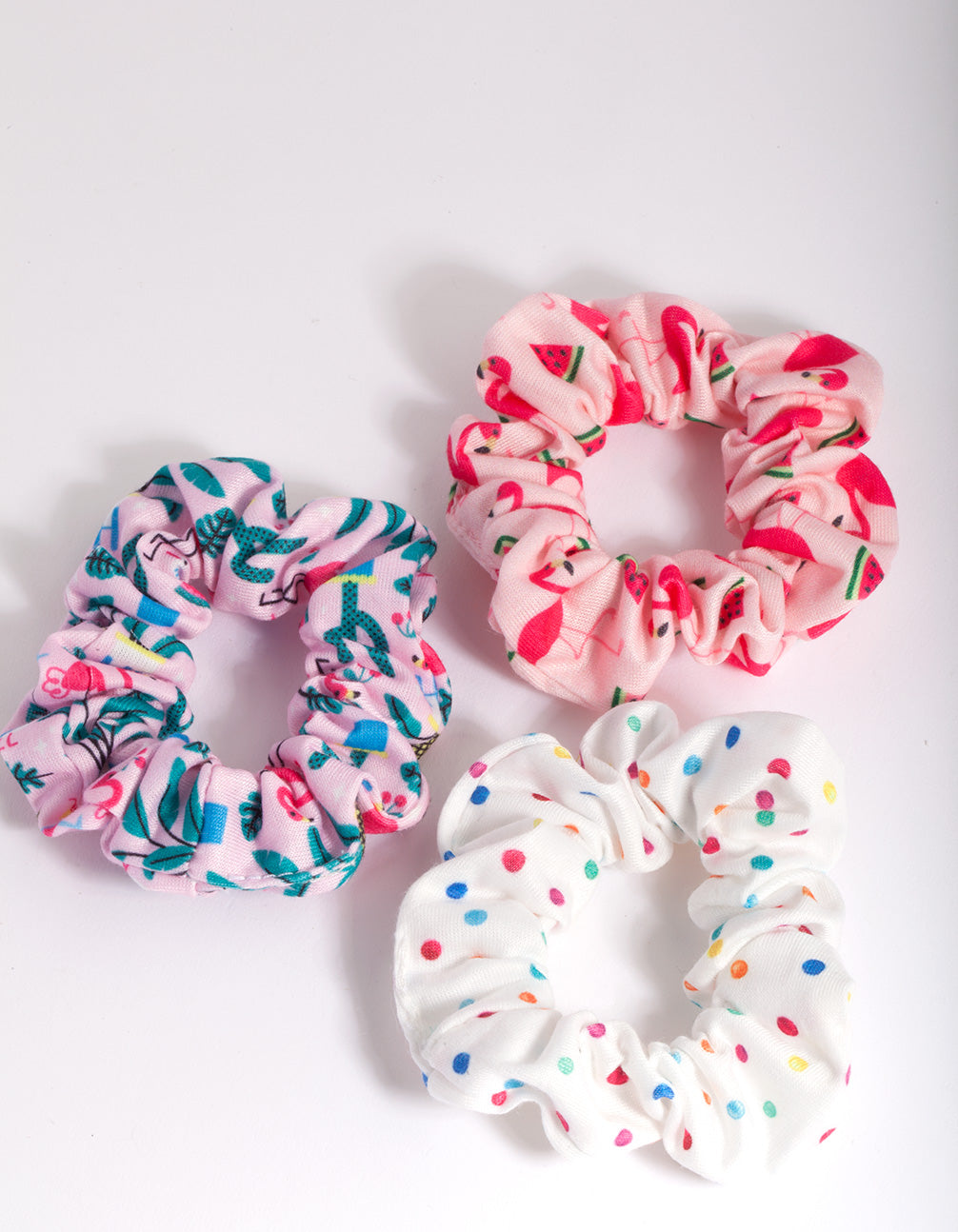 Kids Printed Scrunchie 3 Pack