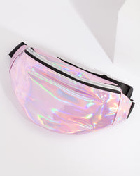 Kids Metallic Pink Bumbag - link has visual effect only