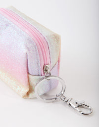 Kids Rainbow Glitter Purse Keyring - link has visual effect only