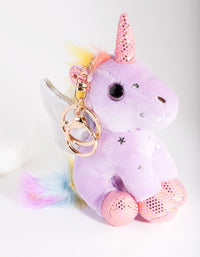 Kids Purple Unicorn Keyring - link has visual effect only