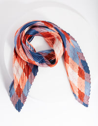 Geometric Blush Pleated Fabric Scarf - link has visual effect only