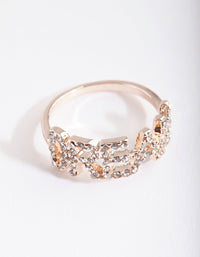 Rose Gold Diamante Dream Ring - link has visual effect only