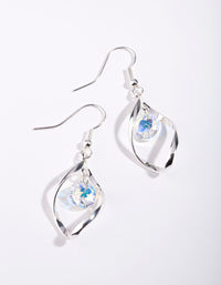 Silver Swarovski Drop Twist Earring - link has visual effect only