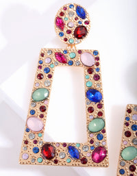Multi Stone Trapeze Earring - link has visual effect only