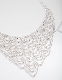 Silver Lattice Chain Necklace - link has visual effect only