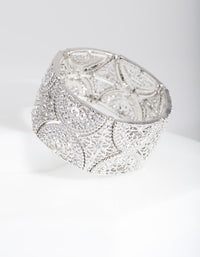 Diamante Filigree Stretch Bracelet - link has visual effect only