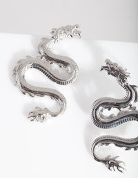 Mini Rhodium Spiked Dragon Earring - link has visual effect only