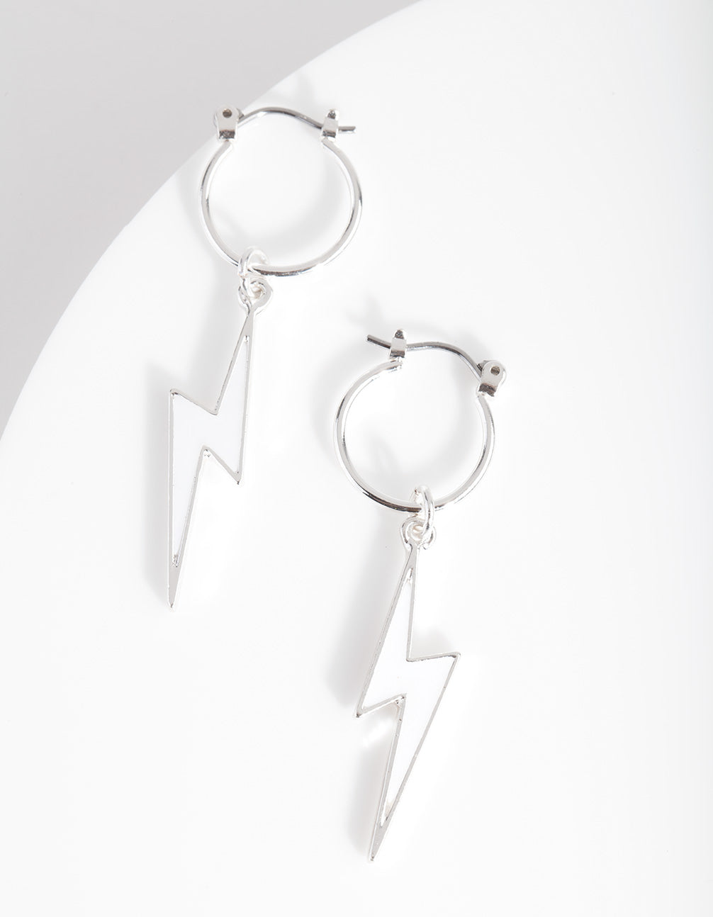 Mini Lightening Bolt Hoop Earring