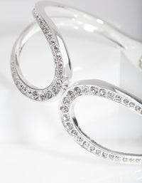 Silver Crystal Loop Bangle - link has visual effect only