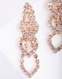 Mini Rose Gold Gradual Loop Cup Chain Earring - link has visual effect only