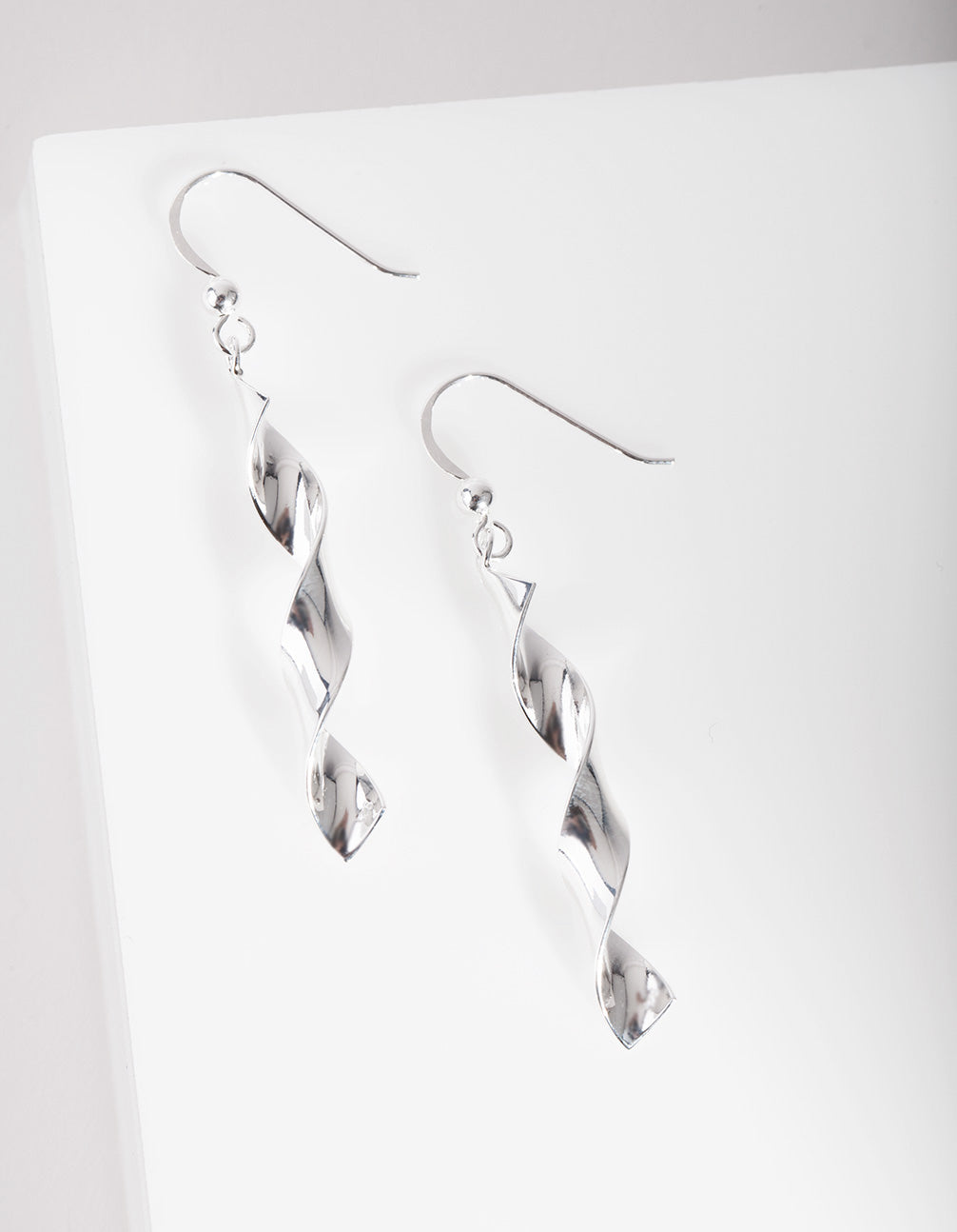 Sterling Silver Chunky Spiral Earring