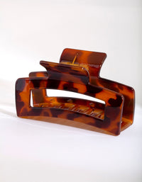 Rectangle Tortoiseshell Claw Clip - link has visual effect only