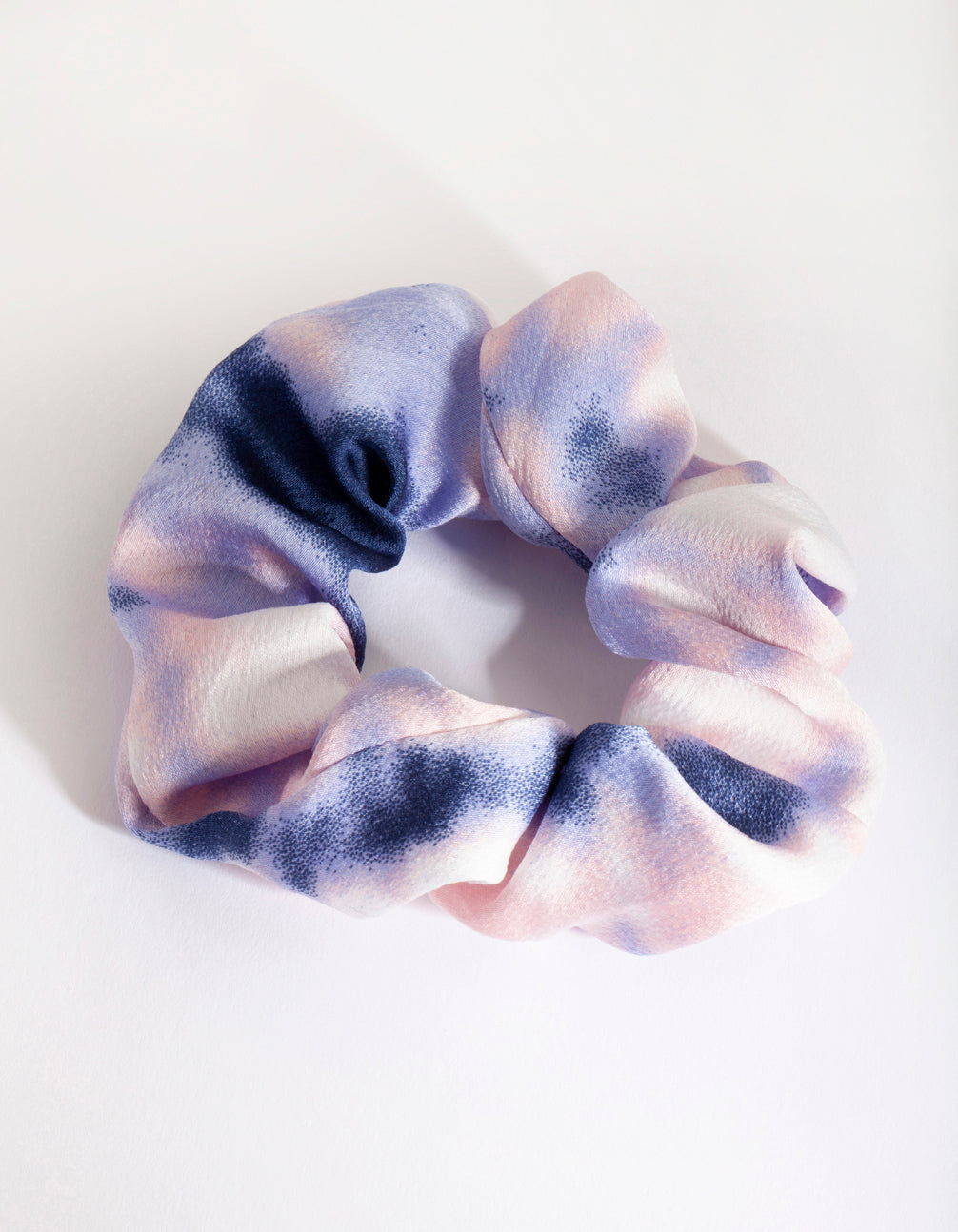 Soft Blue Tie Dye Scrunchie