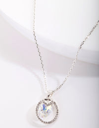 Swarovski Circular Stone Pendant Necklace - link has visual effect only