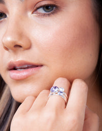 Swarovski 3 Diamante Ring Set - link has visual effect only