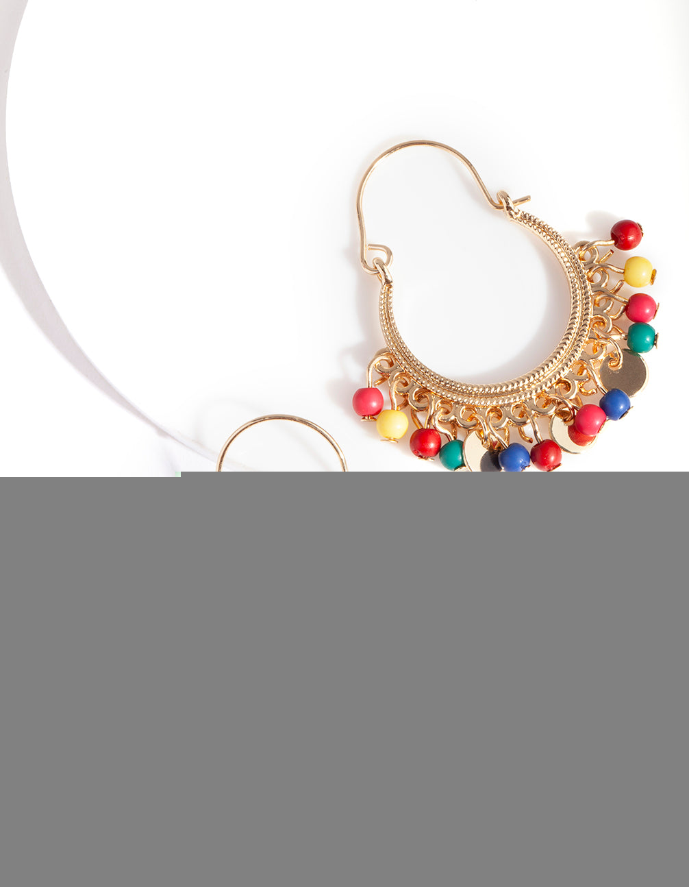 Gold Rainbow Jingle Earring