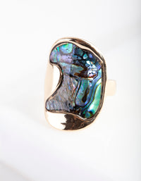 Gold Abalone Wave Ring - link has visual effect only