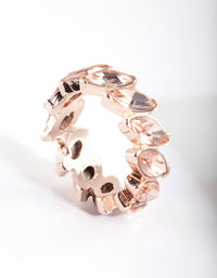 Rose Gold Navette Stone Ring - link has visual effect only