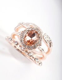 Rose Gold Engagement Ring Stack - link has visual effect only