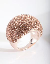 Rose Gold Giant Pave Dome Ring - link has visual effect only