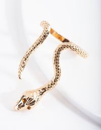 Gold Etched Snake Ring - link has visual effect only