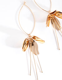 Gold Metal Flower Drop Earring - link has visual effect only