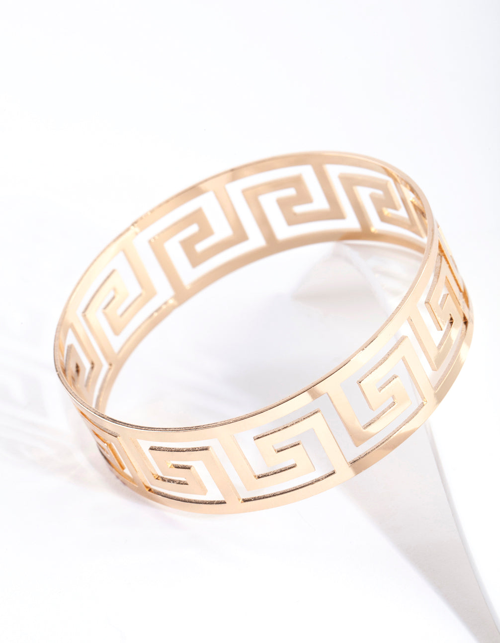 Gold Maze Cutout Bangle