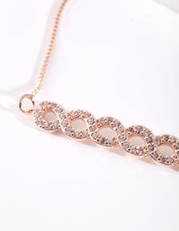Rose Gold Cubic Zirconia Multi Inifinity Toggle Bracelet - link has visual effect only