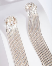 Silver Chain Knot Drop Earring - link has visual effect only