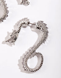 Silver Dragon Hoop Earring - link has visual effect only