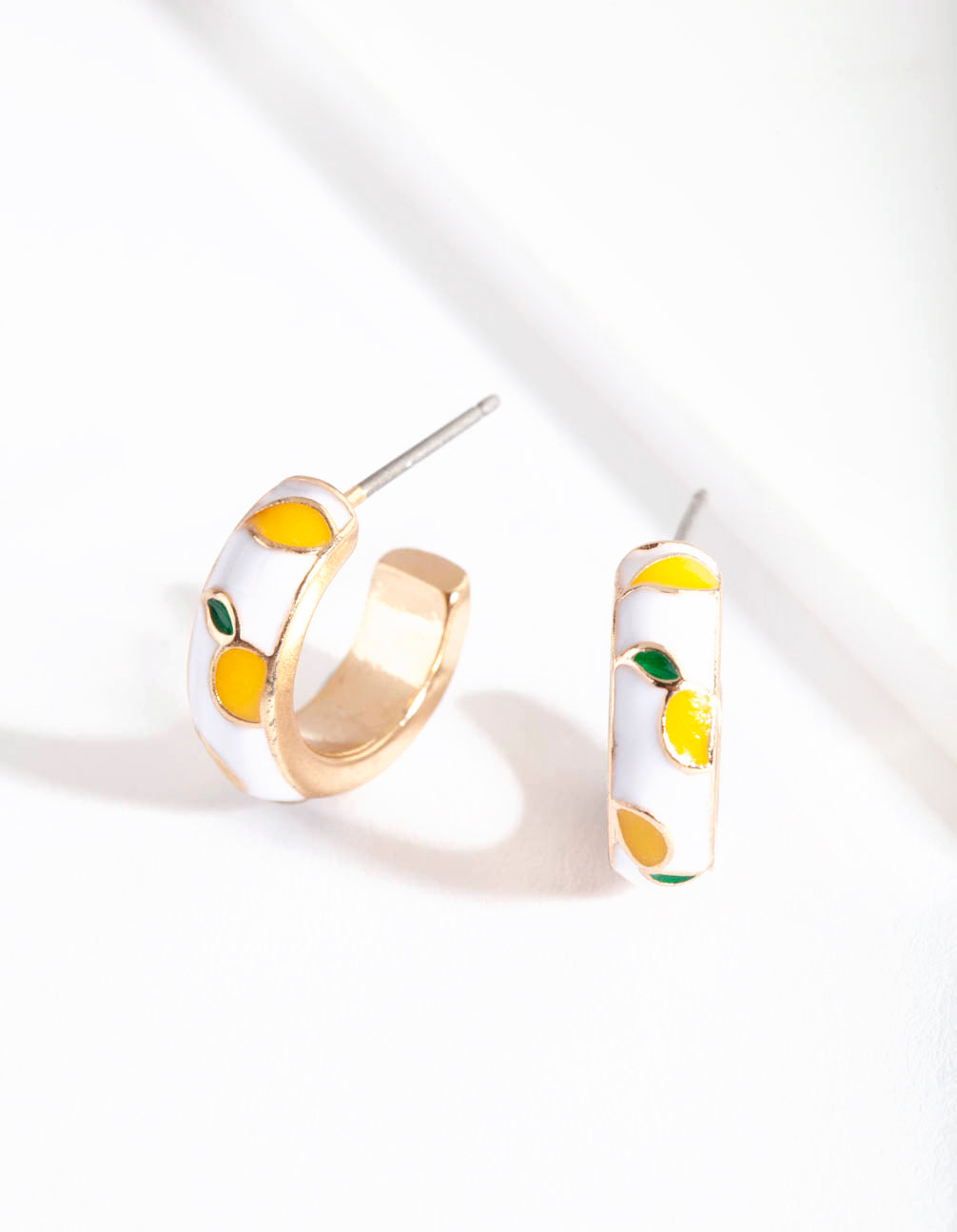 Gold Mini Fruity Hoop Earring