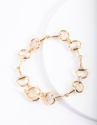 Gold Link T&O Bracelet - link has visual effect only
