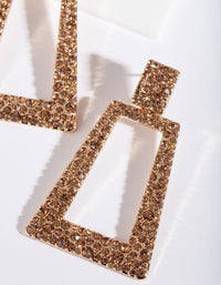 Gold Diamante Trapeze Earring - link has visual effect only