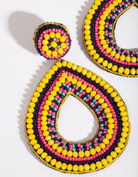 Beaded Psychedelic Drop Earring - link has visual effect only